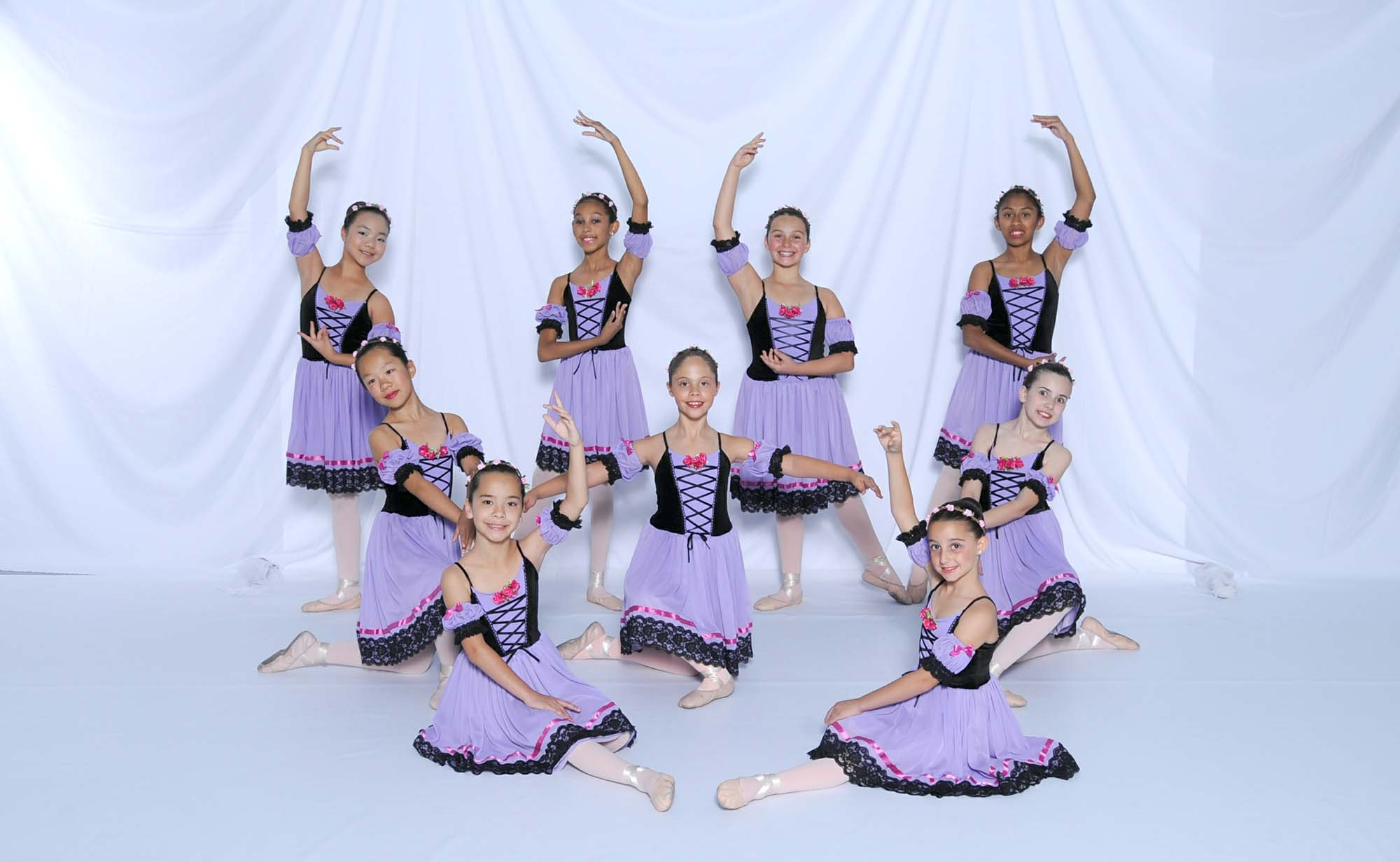dancers posing at the Scottsdale school of ballet